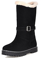 Women's Shoes Synthetic Chunky Heel Snow Boots / Fashion Boots Boots Party & Evening / Dress / Casual Black / Red