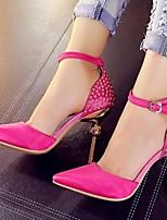 Women's Shoes Fur Stiletto Heel Heels Heels Office & Career / Party & Evening / Casual Black / Red