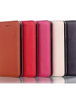 Simple and Noble Design High-quality Genuine Leather Case with Kickstand for Iphone5S