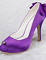 Women's Wedding Shoes Heels / Peep Toe / Platform Sandals Wedding / Office & Career / Party & Evening / Dress Purple