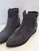 Women's Shoes Low Heel Comfort Boots Outdoor Black / Gray