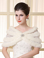 Lace Sleeveless Imitation Cashmere Strips Wedding Wraps Capelets/Wraps/Shawls with Crystal