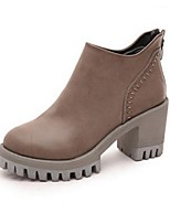 Women's Shoes  Chunky Heel Fashion Boots Boots Office & Career / Casual Black / Gray