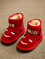 Girls' Shoes Outdoor / Casual Snow Boots Faux Fur / Calf Hair Boots Black / Red