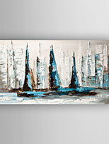 Oil Painting Abstract Buildings  Painting by Knife Hand Painted with Stretched Framed Ready to Hang