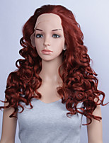 Fashion Synthetic Wigs Lace Front Wigs 24inch Curly Burgundy Heat Resistant Hair Wigs Women