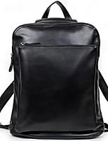 Men PU Bucket Backpack - Black