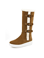 Women's Shoes Leatherette Flat Heel Snow Boots Boots Casual Black / Brown / Gray