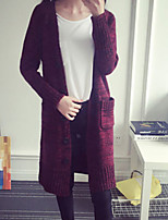 Women's New Arrival Solid Thicken Warm Cardigan , Casual Long Sleeve