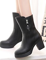 Women's Shoes Chunky Heel Comfort Combat Boots / Round Toe Boots Casual Black