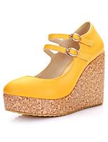 Women's Shoes Platform Comfort / Round Toe Heels Outdoor / Dress / Casual Yellow / Green / Red / Beige / Orange