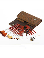 Monsia® Classic Brown Makeup Brushes Set 18Pcs with Bag