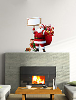 3D Wall Stickers Wall Decals, Santa Claus Decor Mural PVC Wall Stickers