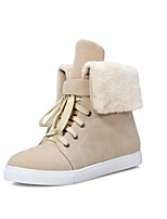 Women's Shoes Leatherette Low Heel Snow Boots Boots Casual Black / Brown