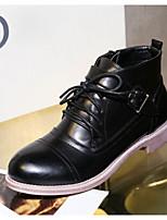 Chaussures Femme - Extérieure - Noir / Kaki - Talon Plat - Confort - Bottes - Similicuir