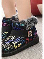 Women's Shoes Low Heel Round Toe Boots Casual Red / Silver / Multi-color
