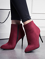 Women's Shoes Sexy Stiletto Heel Pointed Toe Boots Dress / Casual Black / Brown / Red