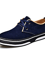 Men's Shoes Office & Career / Casual Suede Oxfords Blue / Khaki