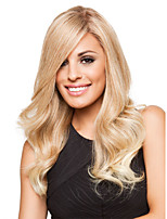 Charming Long Natural Wavy Virgin Remy Human Hair Lace Front  Wigs