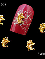 10pcs Golden Scorpion Alloy Nail Art Rhinestone Golden 3D Nail Jewelry Charm DIY Beauty Salon 5*6mm