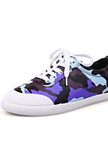 Scarpe Donna - Sneakers alla moda - Casual - Comoda / Punta arrotondata / Chiusa - Piatto - Finta pelle - Verde / Viola / Rosso