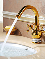 Bathroom Sink Faucet with Ti-PVD finish Antique design faucet