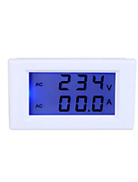 Digital LCD Voltage Meter Ammeter Voltmeter with Current Transformer AC80-300V 0-50.0A Dual Display