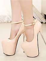 Women's Shoes Stiletto Heel Heels / Pointed Toe / Round Toe Heels Dress Black / Beige