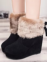 Women's Shoes Fashion All Match Wedge Heel Comfort / Round Toe Ankle Boots