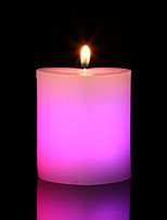 Colorful Led Heart-Shaped Pillar Candle Holiday Modern/Contemporary / Romantic Wedding