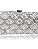 L.west Women Elegant High-grade Pearl Diamonds Evening Bag