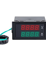 AC Digital Ammeter Voltmeter Dual Digital LCD Panel Amp Volt Meter 100A 80-300V w/ Rear Cover