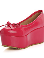 Women's Shoes Platform Comfort / Round Toe Heels Outdoor / Office & Career / Dress / Casual Black / Pink / Red