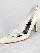 Women's Wedding Shoes Heels / Pointed Toe / Closed Toe Heels Wedding / Office & Career / Party & Evening / Dress Ivory