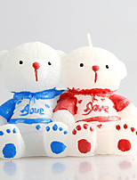 Christmas Couples Teddy Bear European Style Candles Holiday / Music Modern/ Romantic Wedding 1PC