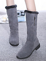 Women's Shoes Wedge Heel Round Toe Boots Casual Black / Gray / Burgundy