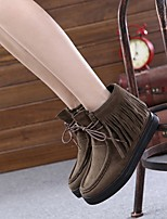 Women's Shoes  Flat Heel Snow Boots / Bootie / Comfort / Round Toe Boots Dress / Casual Black / Brown / Red