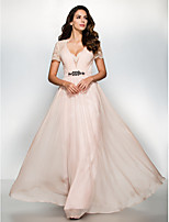 Formal Evening Dress - Pearl Pink A-line Sweetheart Floor-length Chiffon / Lace