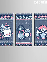 E-HOME® Stretched Canvas Art Christmas Series Decoration Painting  Set of 3