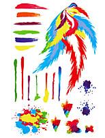 1 - Autres - Multicolore - Motif - 22.4 cm / 14 cm / 0.1 cm - en Papier - Tatouages Autocollants - royal love -Enfant / Homme / Girl /