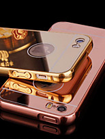 Metal Frame and Mirror Plating Backplane Cell Phone Case for iPhone 5/5S (Assorted Colors)
