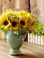 7 Bifurcation, The Bundle Of Multi-Level Sunflower Polyester Sunflowers Artificial Flowers