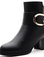 Zapatos de mujer - Tacón Robusto - Botines / Botas a la Moda - Botas - Oficina y Trabajo / Casual / Fiesta y Noche - Sintético - Negro