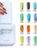 yemannvyou®12 Farben tränken weg vom Metall Farbe UVgelpoliermittel no.1-12 (5 ml)