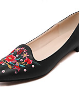 Women's Shoes Leather Flat Heel Pointed Toe / Closed Toe Flats Dress / Casual Black