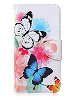 Pour Samsung Galaxy Note Portefeuille / Porte Carte / Avec Support / Clapet Coque Coque Intégrale Coque Papillon Cuir PU SamsungNote 5 /