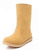 Women's Low Heel Snow Boots / Round Toe / Closed Toe Boots Career / Dress / CasualBlack / Blue / Brown / Yellow /