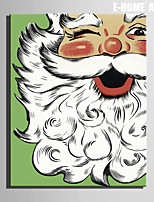 E-HOME® Stretched Canvas Art Santa Claus Christmas Series Decoration Painting  One Pcs