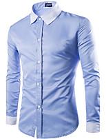 Men's Fashion Casual Solid Cotton Shirt