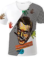 Herren Freizeit / Sport T-Shirt  -  Druck Kurz Strickwaren